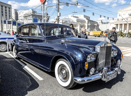 phantom: MOSCOW, RUSSIA - APRIL 24, 2016: English motor car Rolls-Royce Phantom  - party rally of classic vintage cars in Moscow April 24, 2016