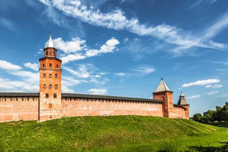 veliky: The Kremlin walls in Novgorod the Great (Veliky Novgorod), Russia