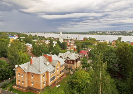 kostroma: View of the Kostroma and Volga river from above, Russia Stock Photo
