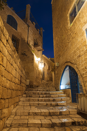 jaffo: The ancient city of Jaffa at night, Tel Aviv, Israel