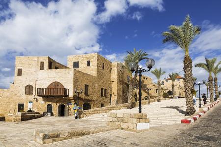 jaffa: The old street Kikar Kedumim of Jaffa (Jaffa is a part of Tel Aviv), Israel Stock Photo