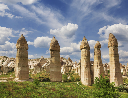 goreme: Love valley in Goreme national park. Cappadocia, Turkey