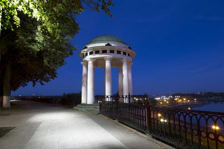 arbour: Arbour on the Volga embankment in Yaroslavl at night