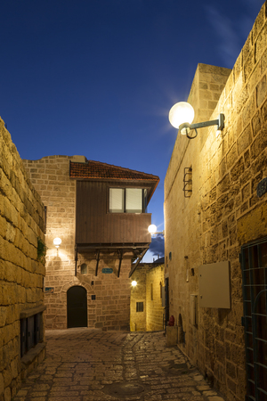 jaffa: The ancient city of Jaffa at night, Tel Aviv, Israel