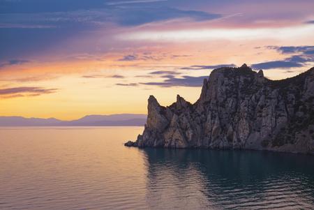 scarp: Crimea, Novy Svet, Karaul-Oba at sunset