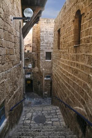 jaffa: The old narrow streets of Jaffa. Tel Aviv, Israel.