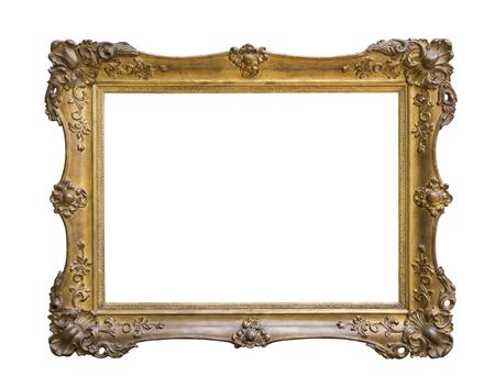 ornate frame: Vintage frame isolated on white background