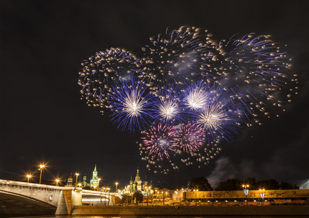 Salute in Moscow in celebration of the city day