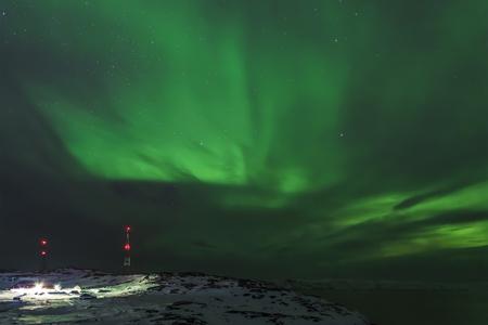 Northern lights, Murmansk region, Teriberka, Russia