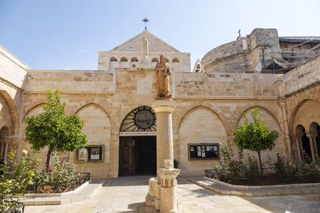 Palestin. The city of Bethlehem. The Church of the Nativity of Jesus Christ Stock Photo