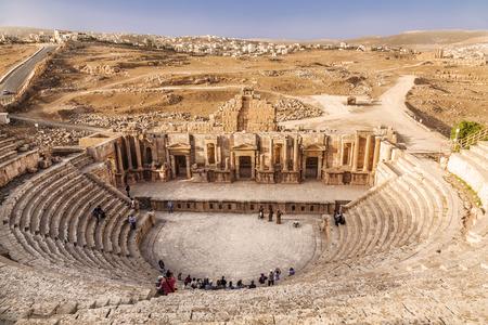 Groot Zuidentheater in antieke stad Jerash, Jordanië