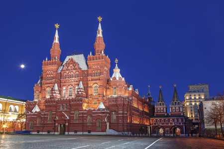 The architectural ensemble of the Red square at night, Moscow, Russia Stock Photo