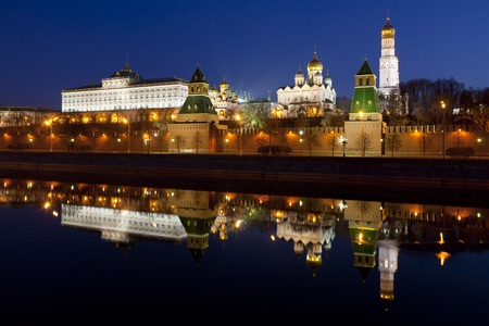 specular: Panorama of the Moscow Kremlin in the early morning, Russia