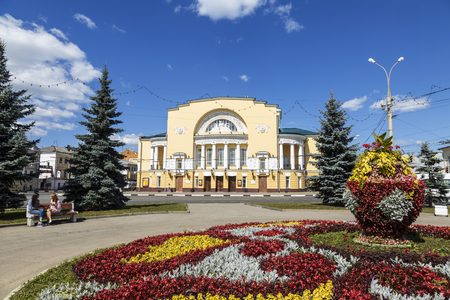 The theatre of a name of Volkova in Yaroslavl l, Golden ring, Russia. Russian state academic drama theatre named after F. Volkov is the oldest drama theatre of Russia, founded in 1750 Editorial