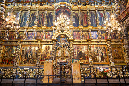 The frescoes in the Church of Elijah the Prophet in Yaroslavl, Russia
