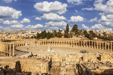 corinthian column: The ancient Roman city Gerasa, modern Jerash, Jordan