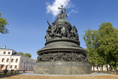 Veliky Novgorod, Russia - JULY 14, 2015:  Monument to the Thousand Years of Russia (Millennium of Russia).