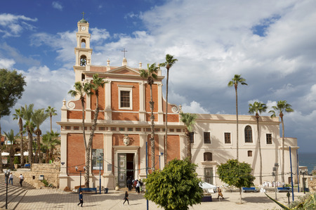 The st. Peters church in old Jaffa in Tel Aviv Stock Photo