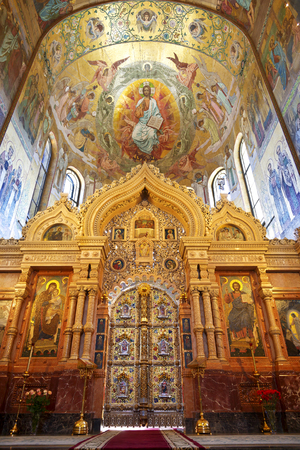 SAINT PETERSBURG, RUSSIA - JULY 06, 2015: Interior of the Church of the Savior on Spilled Blood in St. Petersburg, Russia.