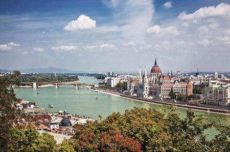 Panorama of Budapest. Top view Stock Photo