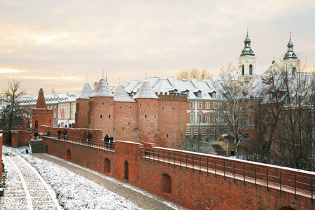 bastion: Barbican in the capital city of Poland