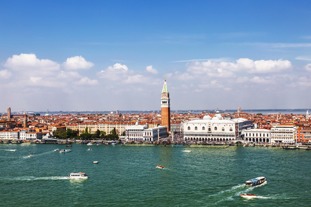 View from the top of Venice, St. Marks Square and the lagoon
