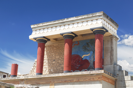 The Palace of Knossos in Crete, Heraklion, Greece
