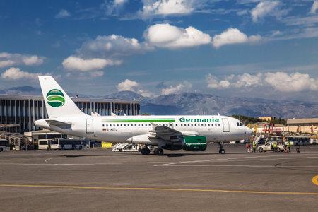 The view of the airport of Heraklion behalf of Nikos Kazantzakis