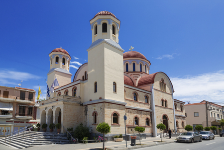 The Cathedral of Saint Minas - one of the main cathedrals of the city of Heraklion on Crete island in Greece
