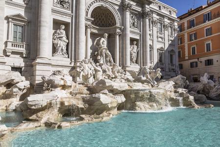 Trevi-fontein, Rome, Italië Stockfoto