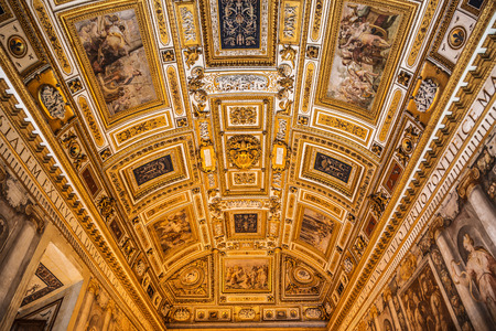 Castel Santangelo (Hadrians mausoleum), the interior, Rome, Italy Editorial