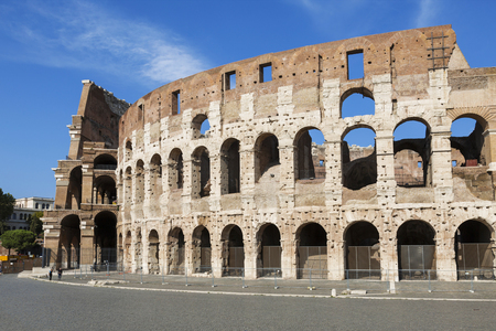 architecture monumental: View of the Colosseum, Rome, Italy