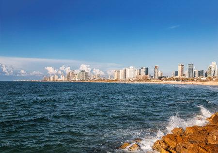 iew of tel Aviv from the Mediterranean sea, Israel Editorial