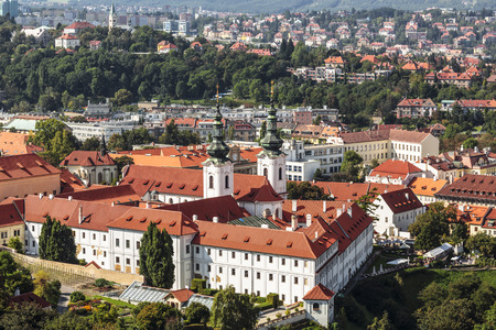 View from the top of Prague and the Strahov Monastery, Czech Republic