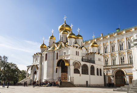 Annunciation Cathedral in the Moscow Kremlin, Moscow, Russia. The Cathedral was built in 1489