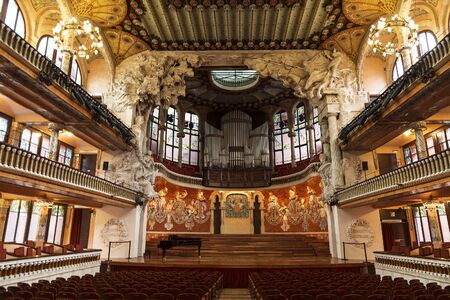 Palace of Catalan music in Barcelona, Catalonia, Spain