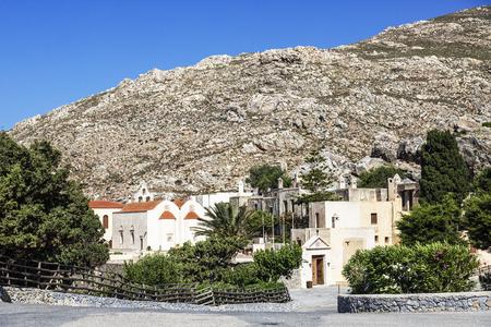 The monastery Piso Preveli - functioning monastery in Crete, Greece Stock Photo