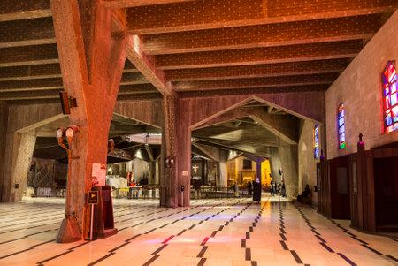 The interior of  the Basilica of the Annunciation. Nazareth,