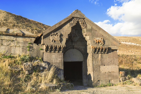Caravanserai on Selim pass in the mountains of Armenia Stok Fotoğraf