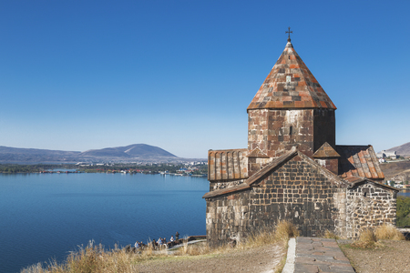 Sevanavank monastery on the North-West coast of lake Sevan, Gegharkunik province, Armenia. 免版税图像