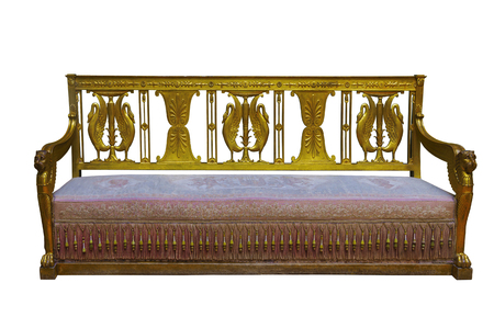 Luxury vintage sofa on white background isolated