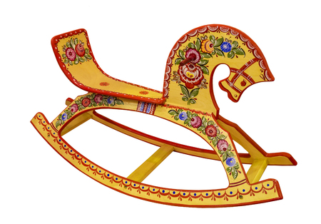 Children's rocking horse, russian folk traditional art, Russia Stock Photo