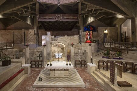 The interior of the Basilica of the Annunciation. Nazareth, Israel