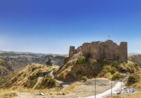 Armenia, Church of the 11th century St. Astvatsatsin (Holy Mother of God) and the fortress Amberd