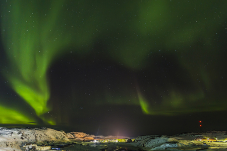 Aurora, Barents Sea coast, Russia Фото со стока