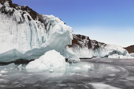 Winter fairy tale on lake Baikal, Eastern Siberia, Russia