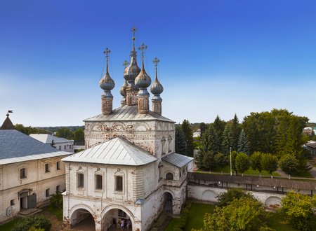 Gold ring of Russia. City Yuryev-Polsky. Gate Church of St. John the Evangelist at the Archangel Michael Monastery