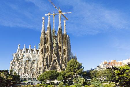 """Kerk van de Heilige Familie (""""Sagrada Familia""""). Barcelona, Catalonië, Spanje Redactioneel"""