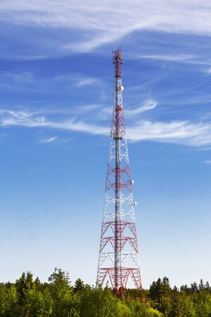 Cellular antenna in in the taiga on the North of Russia