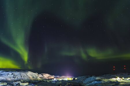 Aurora Borealis, Barents Sea coast, Russia